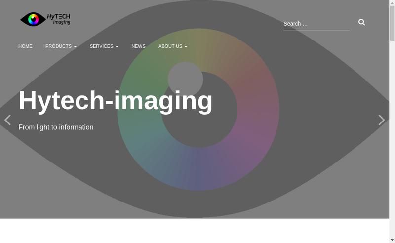 Capture d'écran du site de Hytech-Imaging