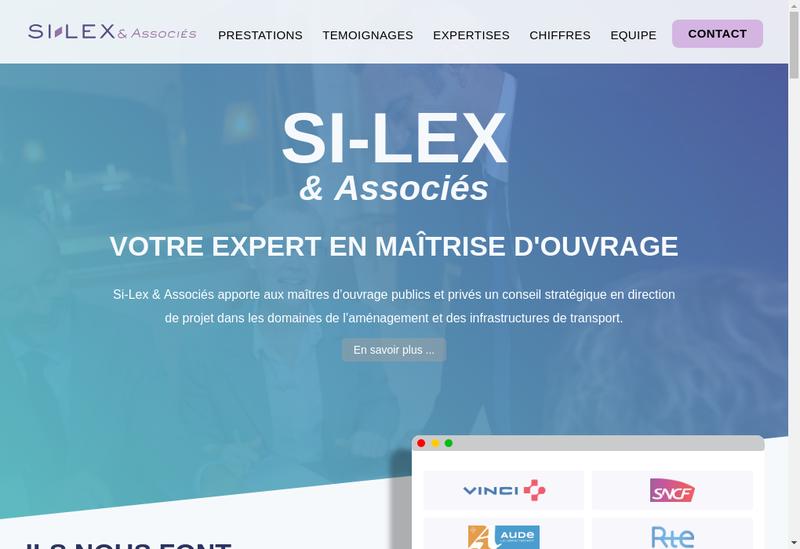 Capture d'écran du site de Si Lex & Associes