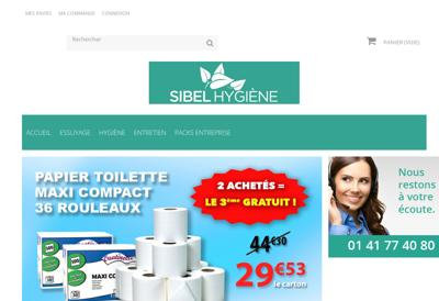 Capture d'écran du site de Sibel Medical
