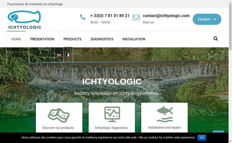 Capture d'écran du site de Ichtyologic
