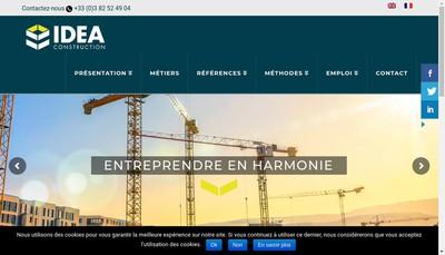 Site internet de Idea Construction