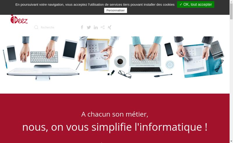Capture d'écran du site de Ideez