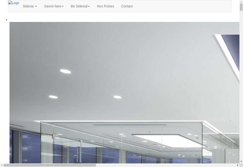 Capture d'écran du site de Sidexia
