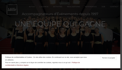 Capture d'écran du site de Idille