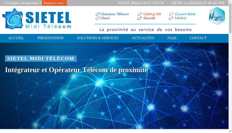Capture d'écran du site de Service Installation Entretien Telepho