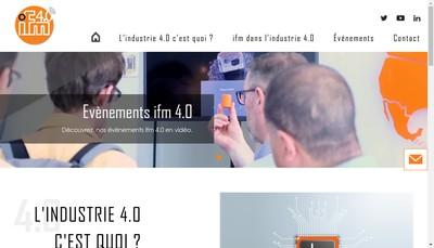 Site internet de Ifm Electronic