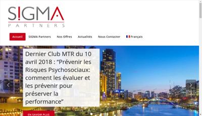 Capture d'écran du site de Sigma Partners