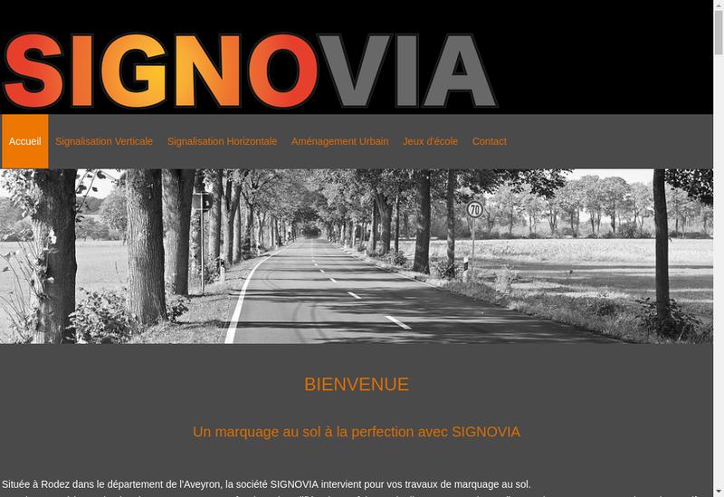 Capture d'écran du site de Signovia