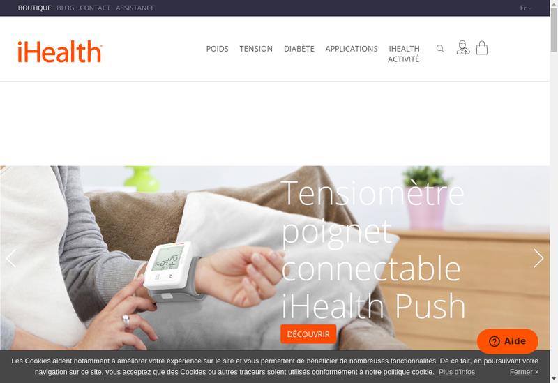 Capture d'écran du site de Ihealthlabs Europe