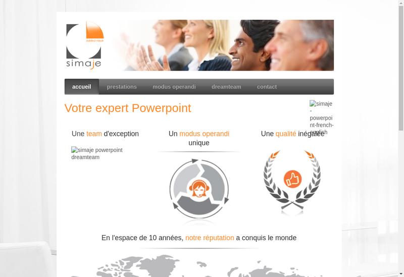 Capture d'écran du site de Simaje