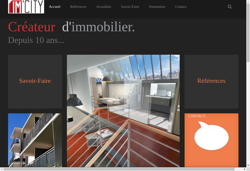 Capture d'écran du site de Im City Investments