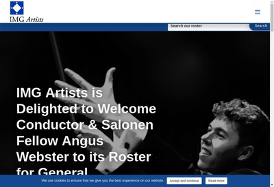 Site internet de Img Artists