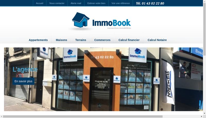 Capture d'écran du site de Immo Book