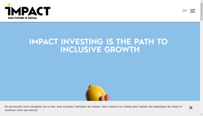 Site internet de Impact Partners