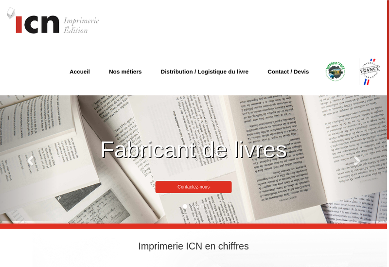 Capture d'écran du site de Imprimerie Gamoy