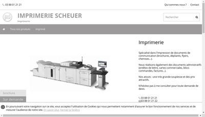 Site internet de Imprimerie Scheuer