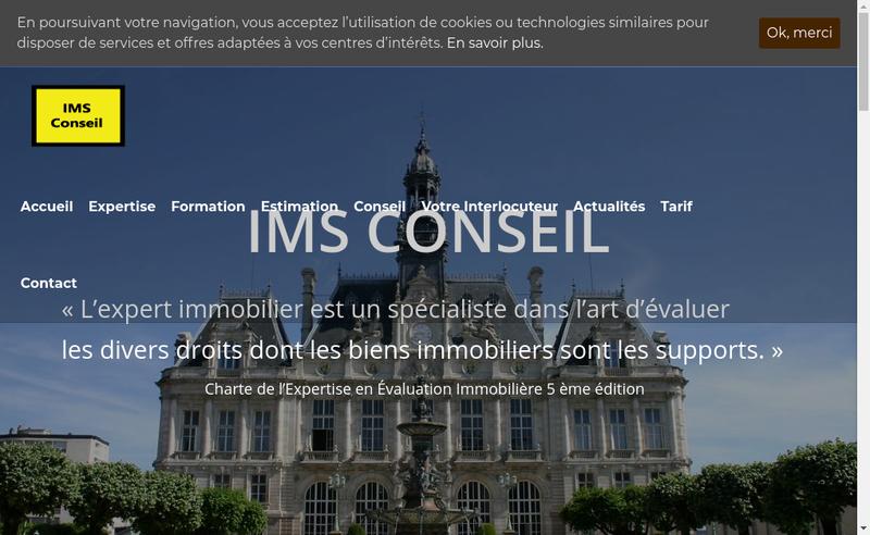 Capture d'écran du site de Ims Conseil
