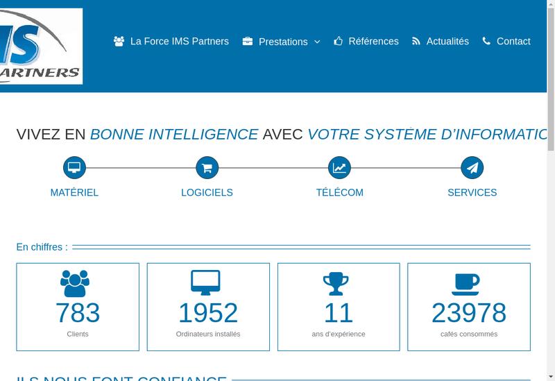Capture d'écran du site de Ims Partners