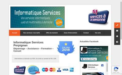 Site internet de Informatique Services