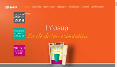 Capture d'écran du site de Infosup
