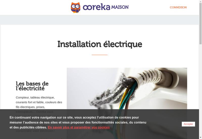 Capture d'écran du site de Applications Tout Electrique