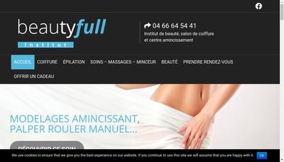 Site internet de Beautifull Institut