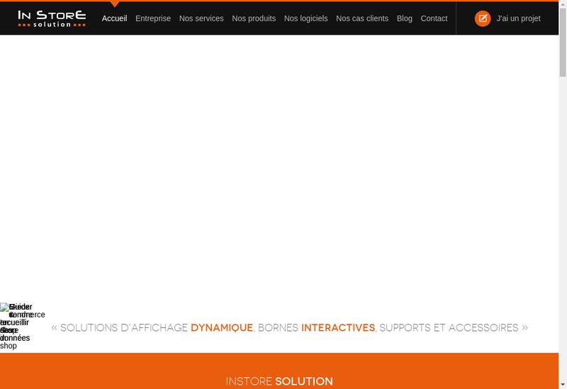 Capture d'écran du site de Instore Solution