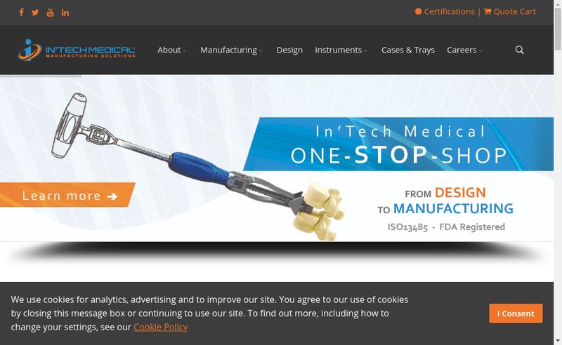 Capture d'écran du site de In'Tech Medical