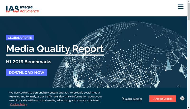 Capture d'écran du site de Integral Ad Science France