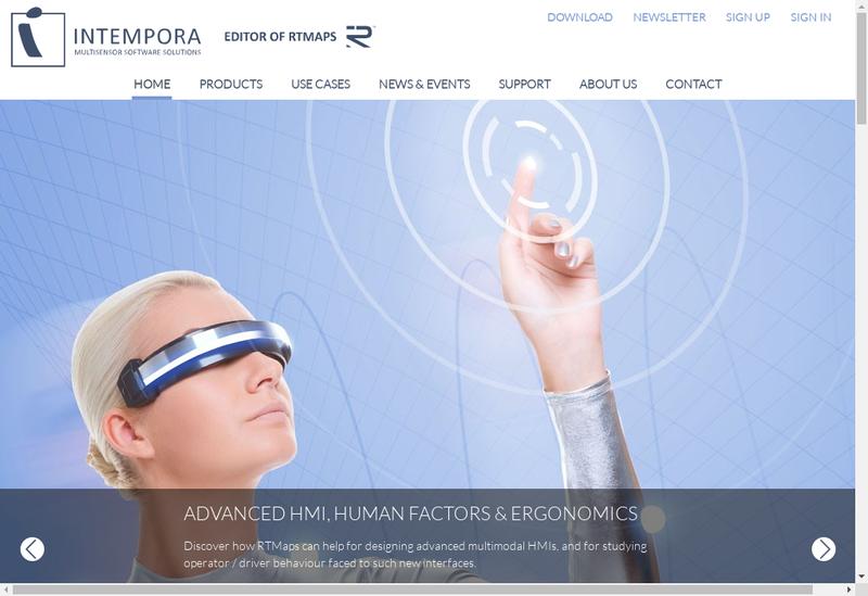 Capture d'écran du site de Intempora