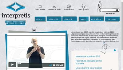 Site internet de Interpretis