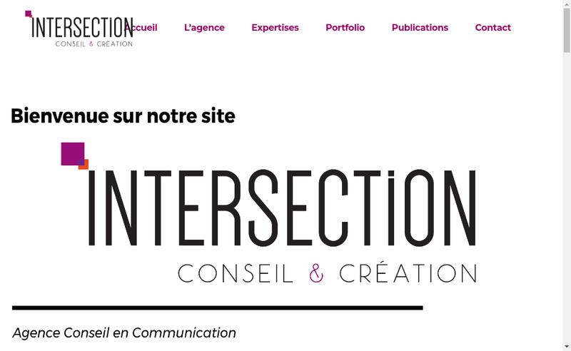 Capture d'écran du site de Intersection Conseil & Creation