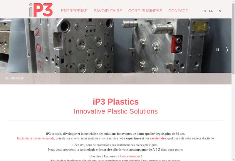 Capture d'écran du site de Ip3 Vendee
