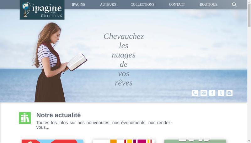 Capture d'écran du site de Ipagine