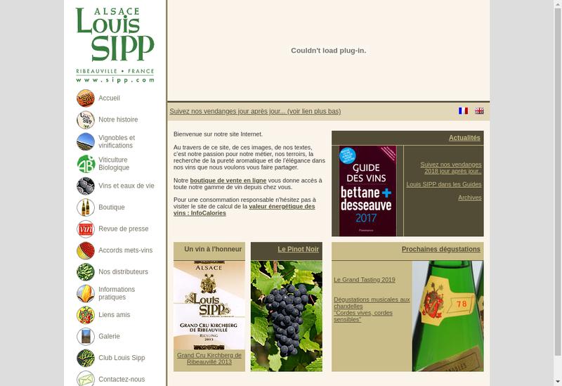 Capture d'écran du site de SIPP