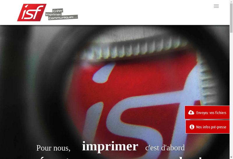 Capture d'écran du site de Isf Creer Imprimer Communiquer