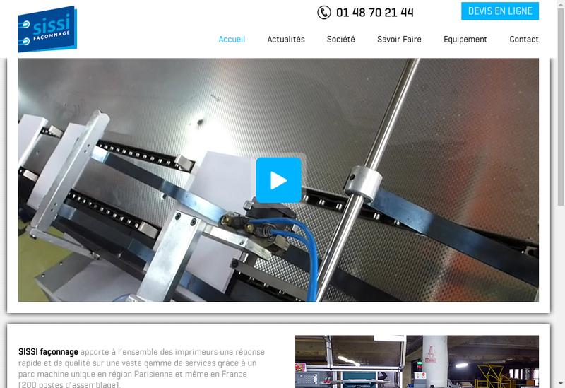 Capture d'écran du site de Sissi