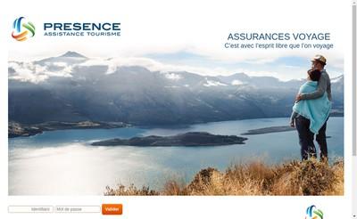 Site internet de Presence Assistance Tourisme