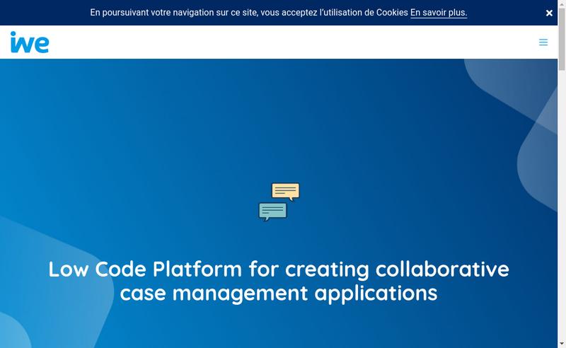 Capture d'écran du site de Iwe