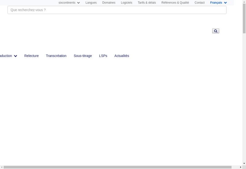 Capture d'écran du site de Sixcontinents