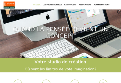 Capture d'écran du site de Sixieme Sens
