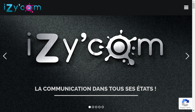Capture d'écran du site de Izy'Com
