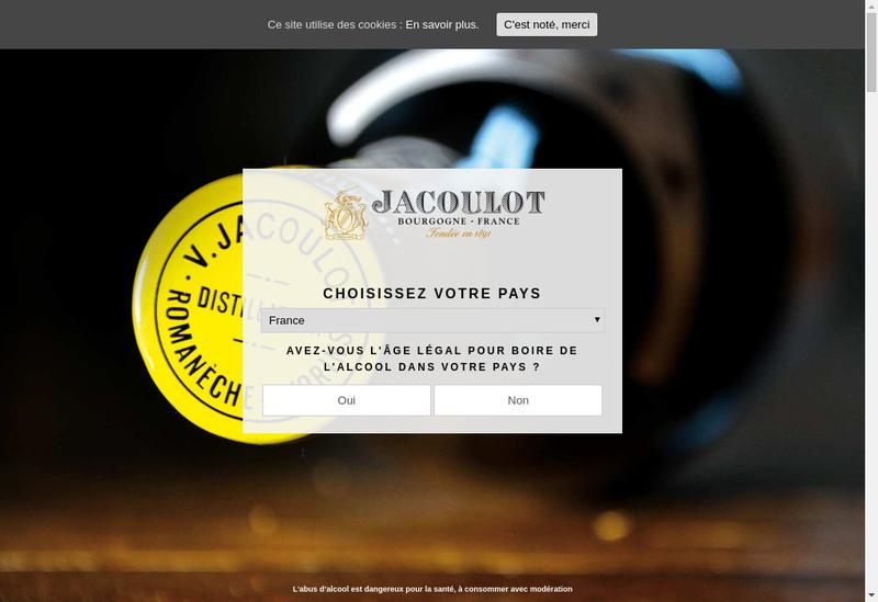Capture d'écran du site de Micollier Milanis Distillerie Bouhy