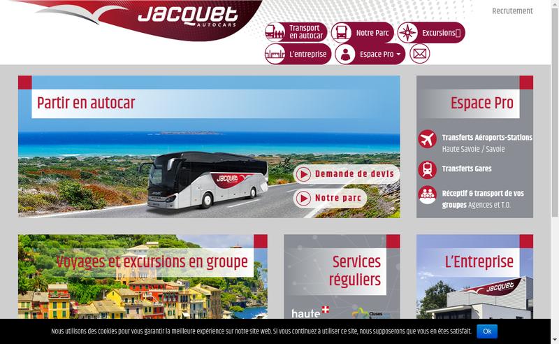 Capture d'écran du site de Autocars Jacquet