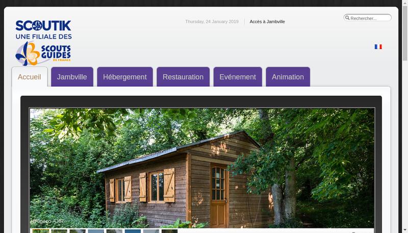 Capture d'écran du site de Scoutik