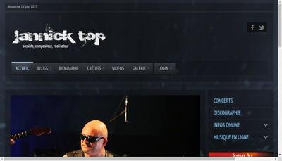 Site internet de Jannick Top