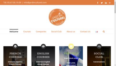 Capture d'écran du site de Jardin Culturel
