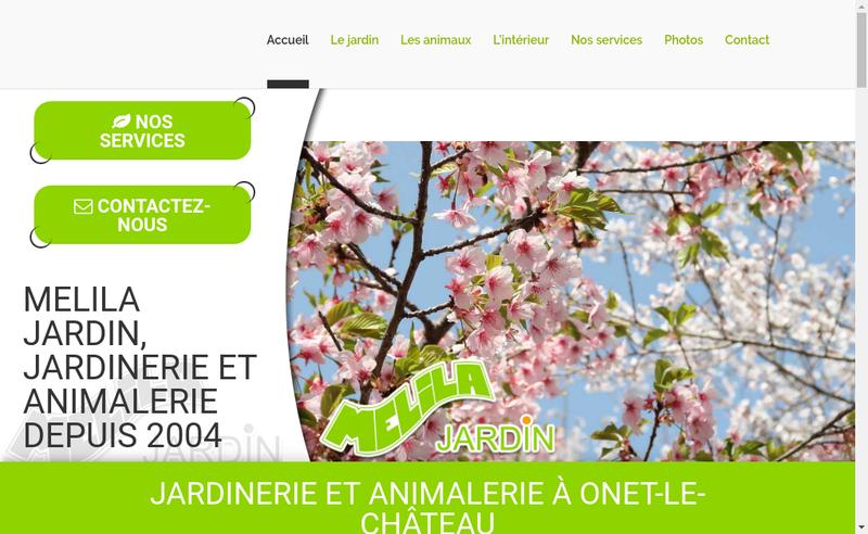 Capture d'écran du site de Melila Jardin