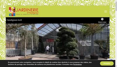 Site internet de Jardinerie d'Hesdigneul