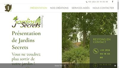 Site internet de Jardins Secrets